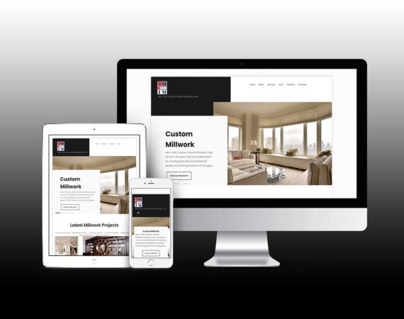 NYC Millwork Website - New York Custom Interior Website