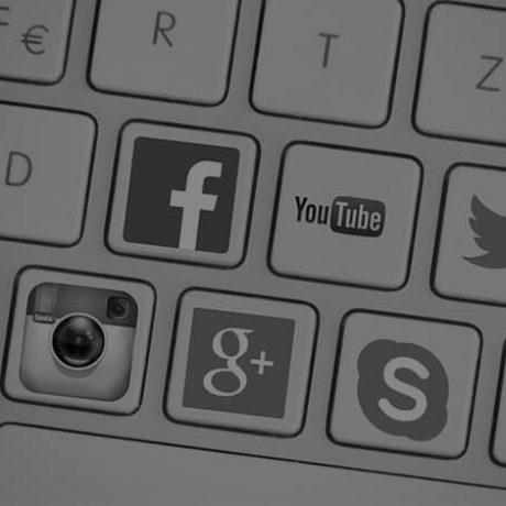 web services - social media marketing - keyboard